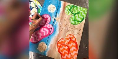 Flip Flops: Jacksonville, Kooper's with Artist Katie Detrich!