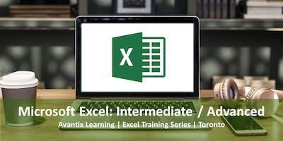 Microsoft Excel Training Course Toronto (Intermediate / Advanced)