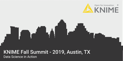KNIME Fall Summit 2019 - Austin