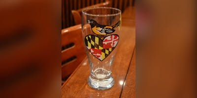 O's Glass: Baltimore, Knotty Pine with Artist Detrich!