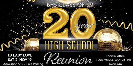 BHS Class of '99 20 Year High School Reunion tickets