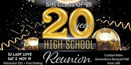 BHS Class of '99 20 Year High School Reunion