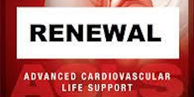 AHA ACLS Renewal July 3, 2019  (INCLUDES Provider Manual and FREE BLS!) from 9 AM to 3 PM at Saving American Hearts, Inc. 6165 Lehman Drive Suite 202 Colorado Springs, Colorado 80918.