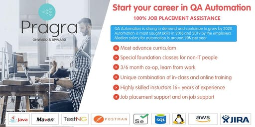 FREE SEMINAR - QA Automation Career Path Program for Newcomers with Job Assistance
