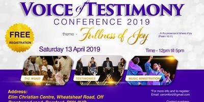 Voice of Testimony Conference 2019