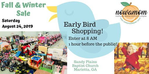 Early Bird Shopping at the NOWAMOM Kids Consignment Sale Fall 2019