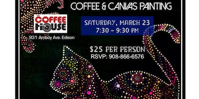 Coffee & Canvas: Dots & Cats at The Coffee House - Edison