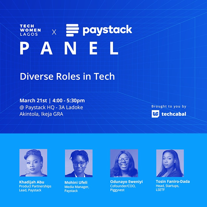 Diverse Roles in Tech - a Tech Women Lagos Panel Discussion image