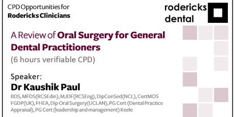 A Review of Oral Surgery for General Dental Practitioners tickets