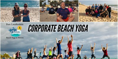 Corporate Beach Yoga