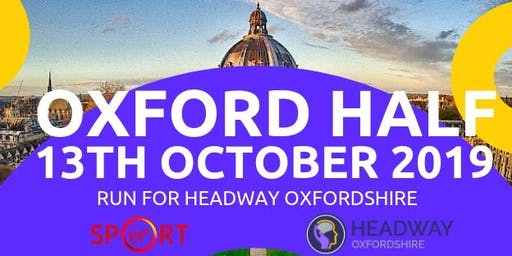 Oxford Half Marathon Place Team Headway Oxfordshire