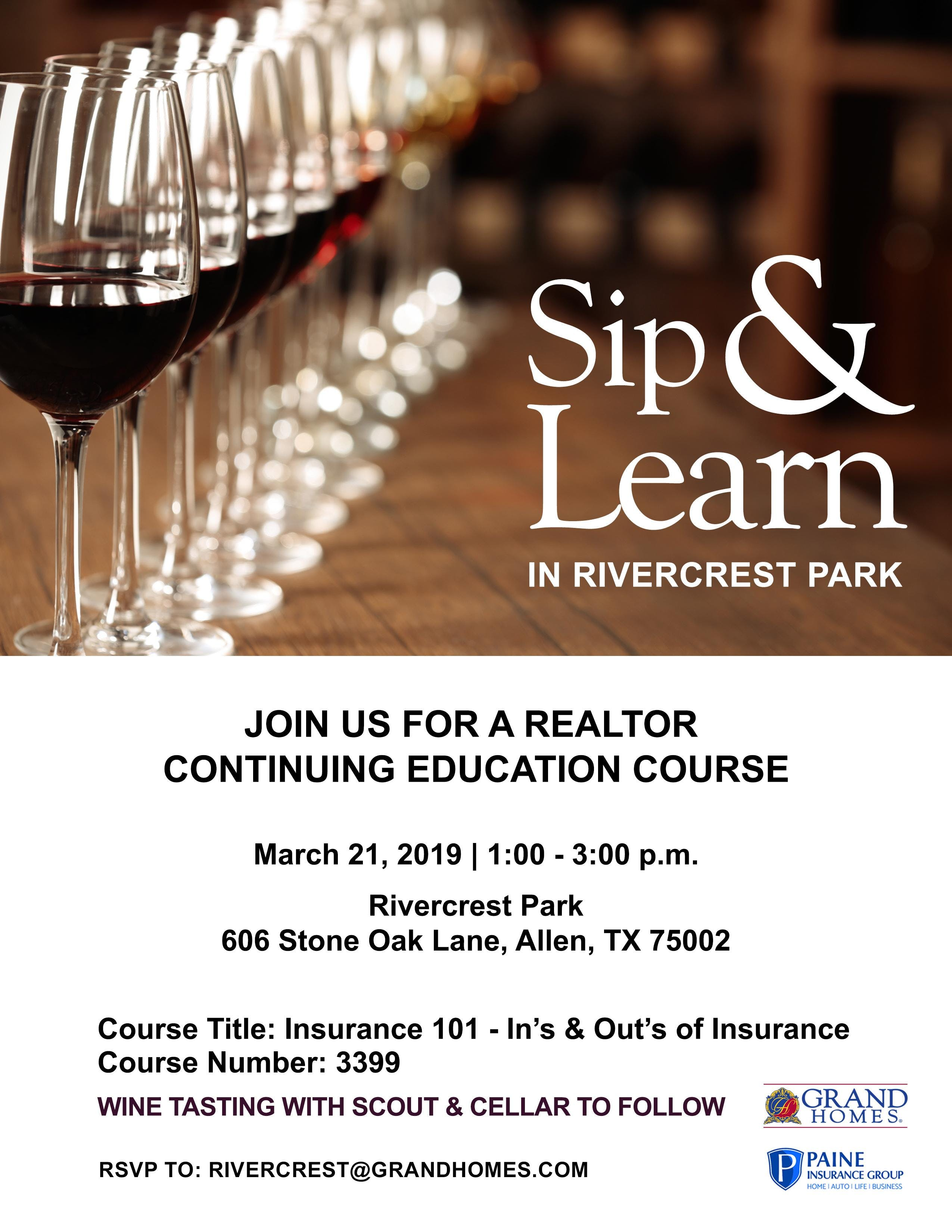 Sip and Learn - Realtor CE Course