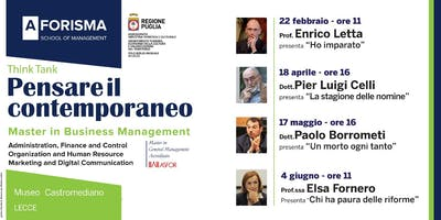 Think Tank/Pensare il contemporaneo. Incontro con Pier Luigi Celli
