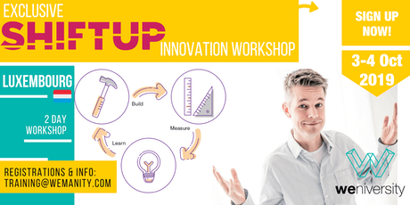 Shiftup Business Agility & Innovation Leader (Workshop)- Luxembourg tickets
