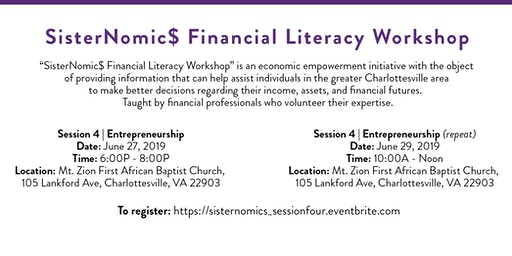 SisterNomic$ Financial Literacy Series | Entrepreneurship