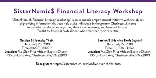 SisterNomic$ Financial Literacy Series | Identity Theft