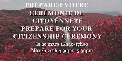 Cérémonie Citoyenneté Canadienne/ Canadian Citizenship Ceremony