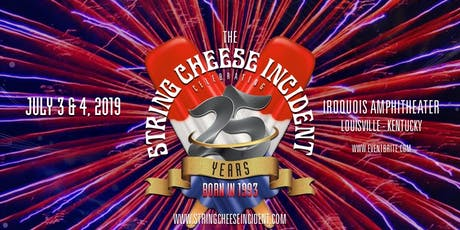 The String Cheese Incident Celebrating 25 Years:  Two Shows, July 3 & 4 tickets