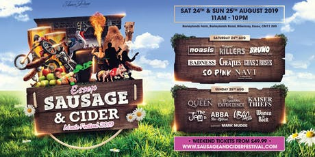 Essex Sausage & Cider Music Festival 2019 tickets