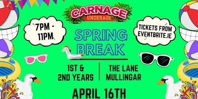Spring Break - 1st  & 2nd Years - The Lane Mullingar