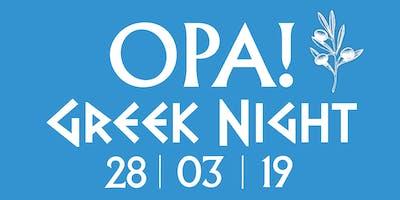 OPA! Greek Night at Yiayias
