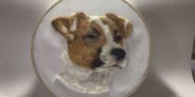 Create a Needle Felt and Embroidery Pet Portrait (all levels)