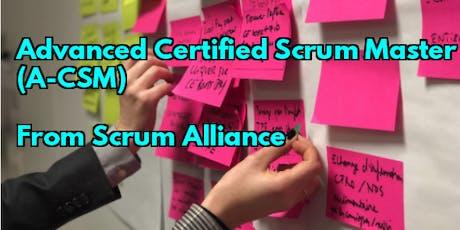 ACSM® TORONTO: Nov26-27- Advanced Certified ScrumMaster from Scrum Alliance tickets