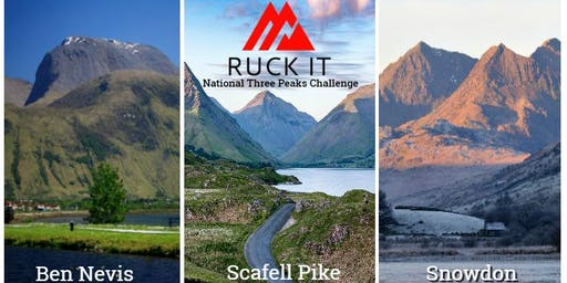 RUCK IT National Three Peaks Challenge 13th/14th July 2019