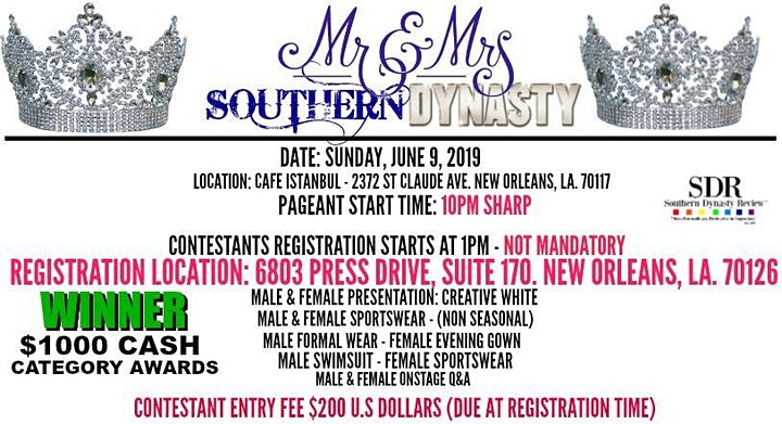 Mr. & Mrs. Southern Dynasty Pageant 2019 image