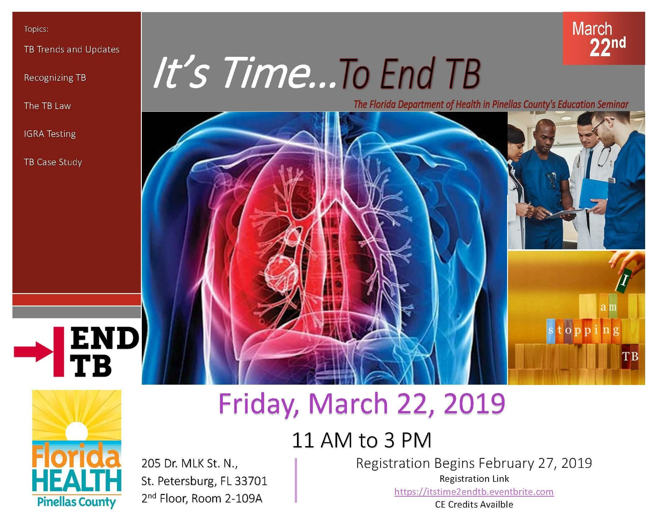 It's Time... To End TB, Educational Seminar