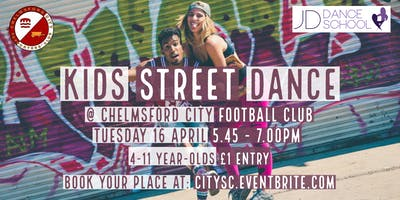 Kids Street Dance at Chelmsford City FC (£1 entry)