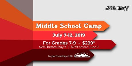 Middle School Camp 2019 tickets