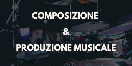 Corso di Composizione/Produzione Musicale Creativa biglietti