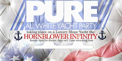 Pure: All White Mega Yacht Dinner Cruise and Party, Aboard the Hornblower
