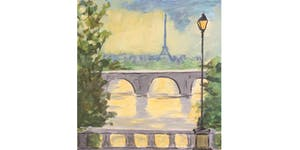 Paris After the Rain - Paint and Sip Night - Snacks...