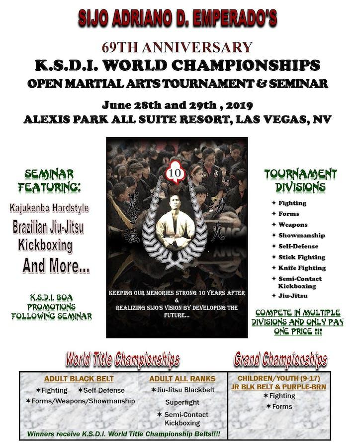 38d13484df6bd Emperado K.S.D.I. World Championships Open Martial Arts Tournament ...