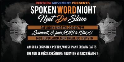 SPOKEN WORD NIGHT /             NUIT DE SLAM