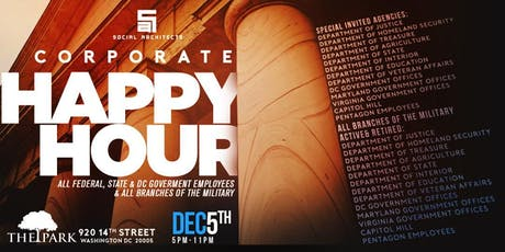 THE CORPORATE HAPPY HOUR - GOVERNMENT & MILITARY tickets