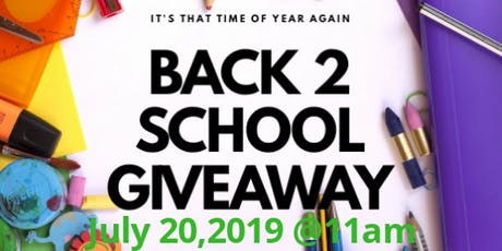 Back to School GiveAway Vendor Special tickets
