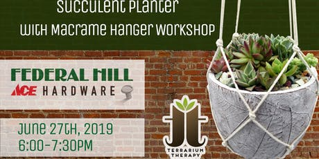 Succulent Arrangement Planter Workshop at Federal Hill ACE Hardware tickets