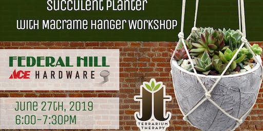 Succulent Arrangement Planter Workshop at Federal Hill ACE Hardware