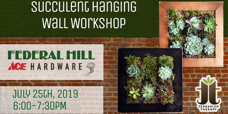 Hanging Vertical Succulent Wall at Federal Hill ACE Hardware tickets