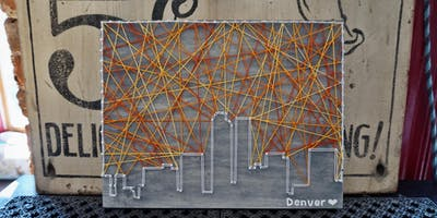 Hostel Fish Wake N' Make - Denver Skyline String Art