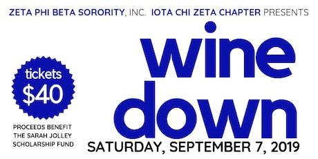 Zeta Phi Beta Sorority, Inc., Iota Chi Zeta Chapter Annual Wine Down tickets