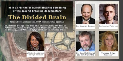 VIP Reception + Film and Talk with Dr. Norman Doidge, Dr Jordan Peterson