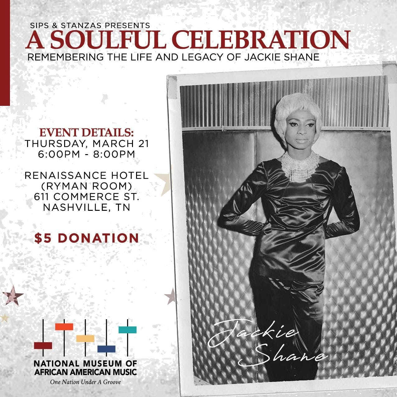 Sips & Stanzas Presents A Soulful Celebration: Remembering the Life & Legacy of Jackie Shane