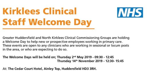 Kirklees Clinical Staff Welcome Day