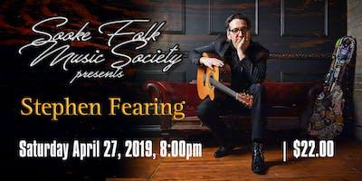 Stephen Fearing - Sooke Folk Music Society Concert Series