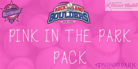 Rockland Boulders Pink in the Park Pack tickets
