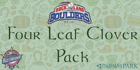 Rockland Boulders Four Leaf Clover Pack tickets